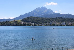 Views lake Lucerne and Mount Pilatus